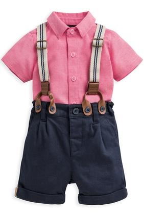 3 Piece Shirt, Shorts & Braces Set