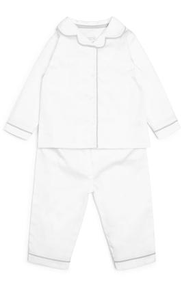 100% Cotton White Pyjama Set