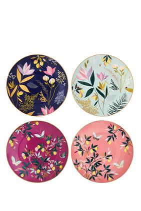 Sara Miller London Orchard - Set of 4 Cake Plates