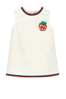 Cotton Dress With Strawberry Patch