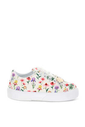 Floral Lace Up Sneakers