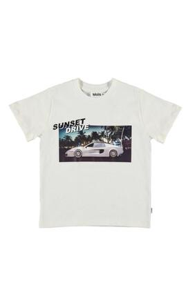 Graphic Car Print T-shirt