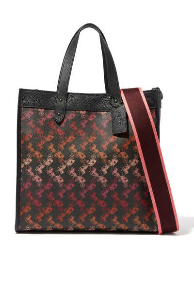 Field Tote Horse and Carriage Print Bag