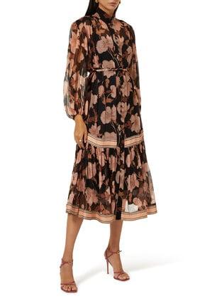 Peonies Midi Dress