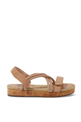 Cork and Rope Flat Sandals