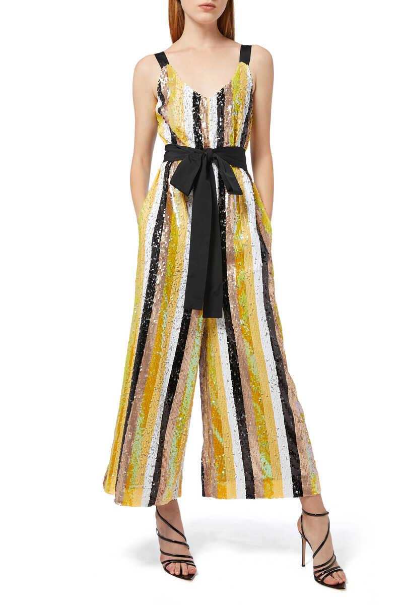 Puli Sequin Striped Jumpsuit image number 1