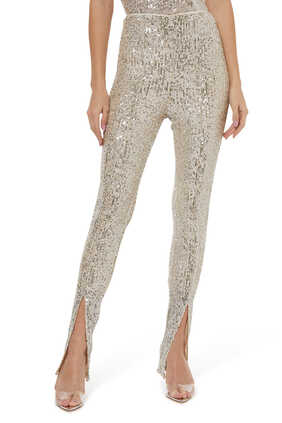 Alicia Sequin Embellished Pants