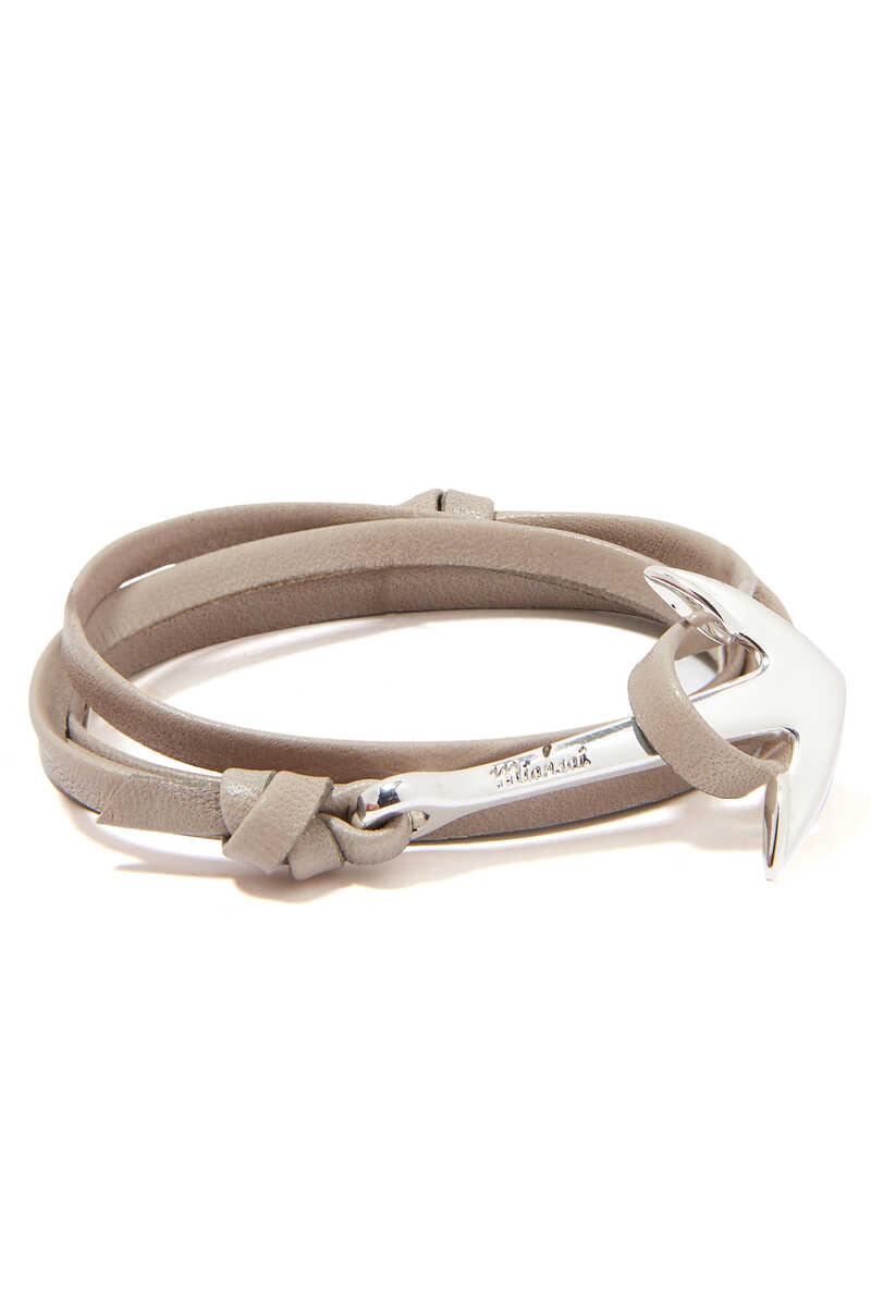 Leather Anchor Bracelet image number 1