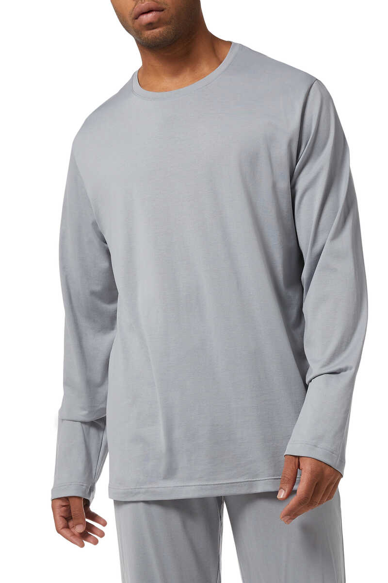 Cotton Blend Pyjama Top image number 1