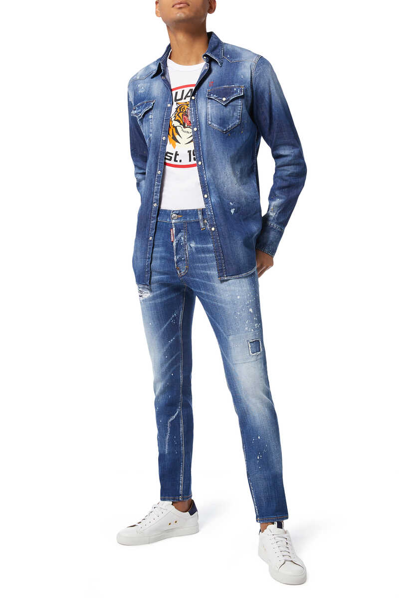 Cool Guy Scar Wash Denim Jeans image number 2