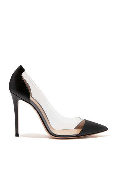 Plexy And Patent Leather Pumps