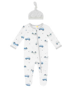Cars Sleepsuit and Hat Set