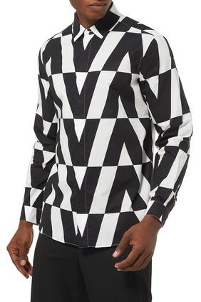 Macro Optical Valentino Print Shirt