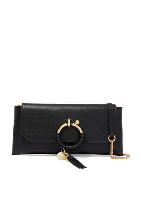 Joan Grained Calf Leather Evening Bag