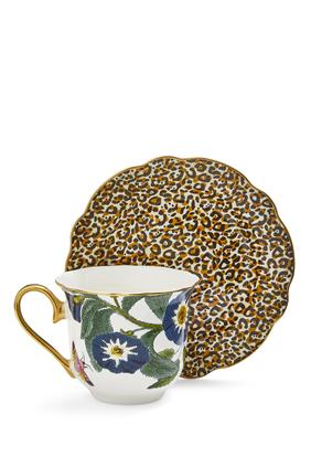 Creatures of Curiosity Leopard Teacup and Saucer Set