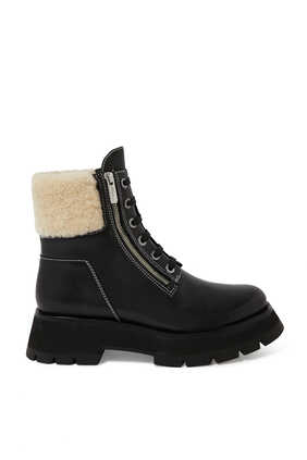 Kate Lug Sole Shearling Boots