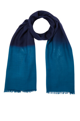 Ombre Frayed Scarf