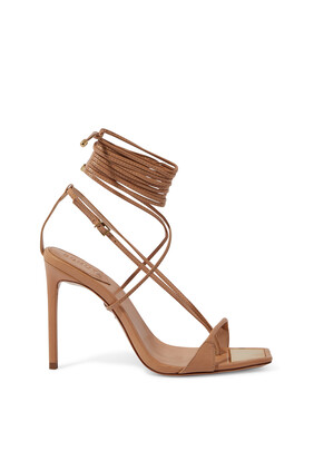 Ankle Tie-Up Leather Sandals