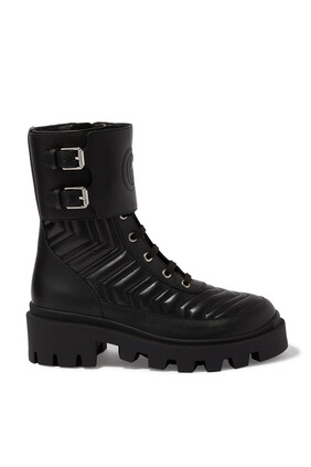 Interlocking G Leather Boots