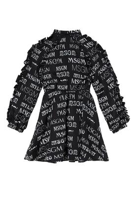 Allover Print Dress