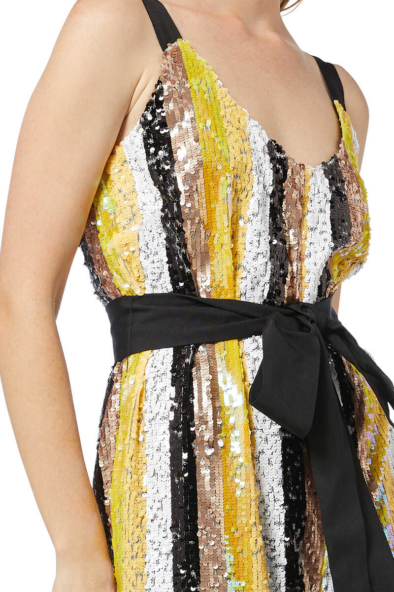 Puli Sequin Striped Jumpsuit image number 4