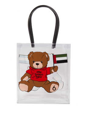 UAE Flag Little Bear Tote Bag
