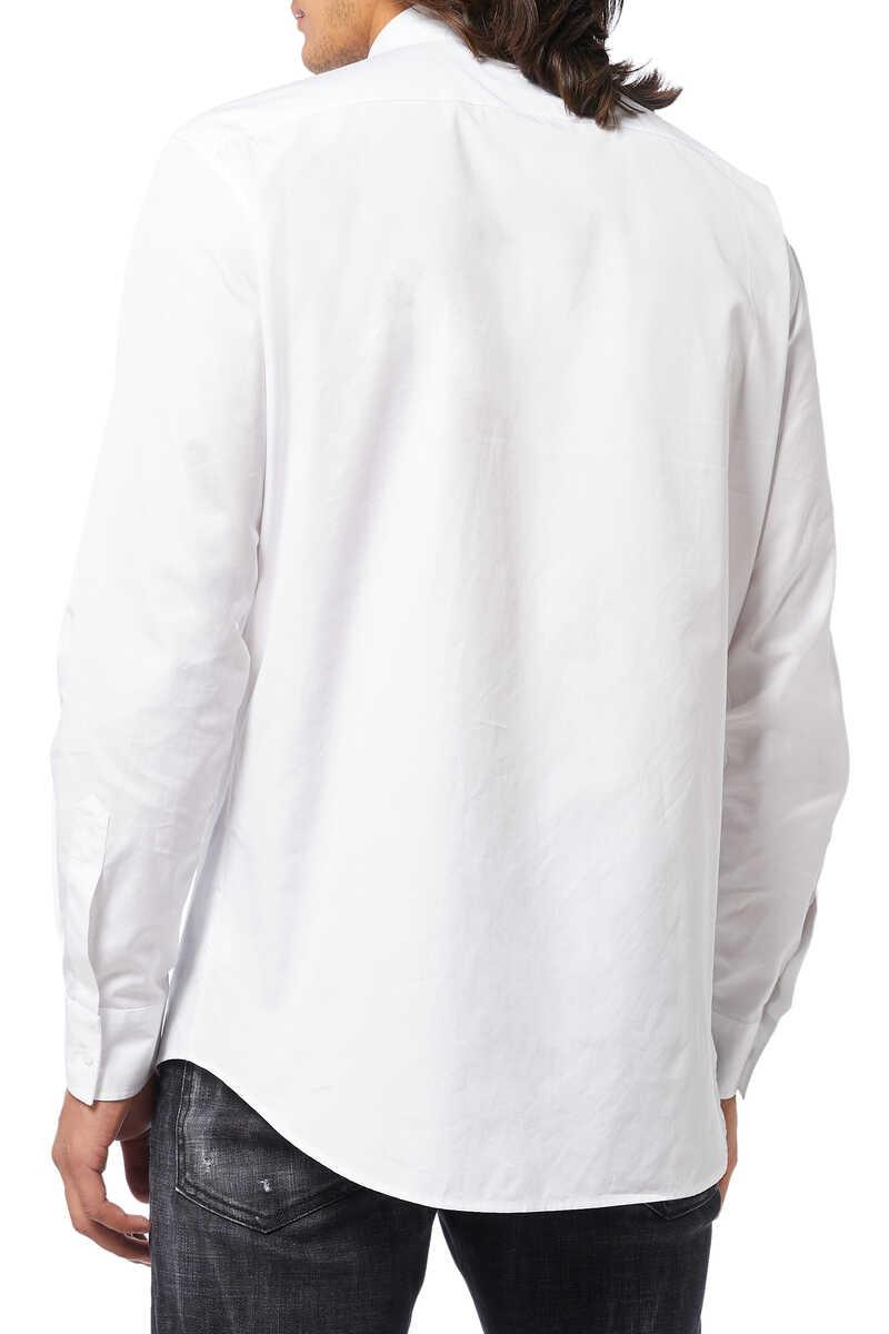 Poplin DSQ2 Sport Stripe Shirt image number 3