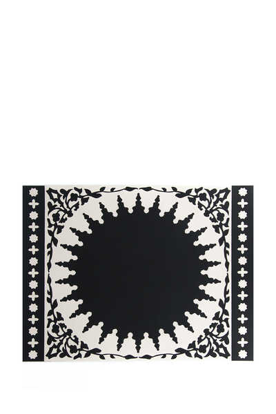 Mosaic Black and White Placemat Set of Two
