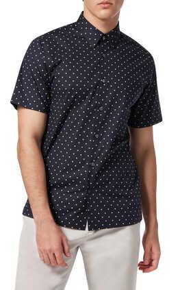 Irving Rhombus Slim-Fit Shirt