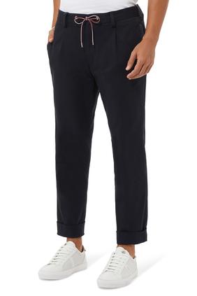 Sporty Cotton Blend Pants