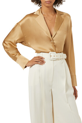 Tie-Back Silk Shirt