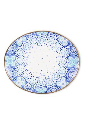 Mirrors Oval Platter