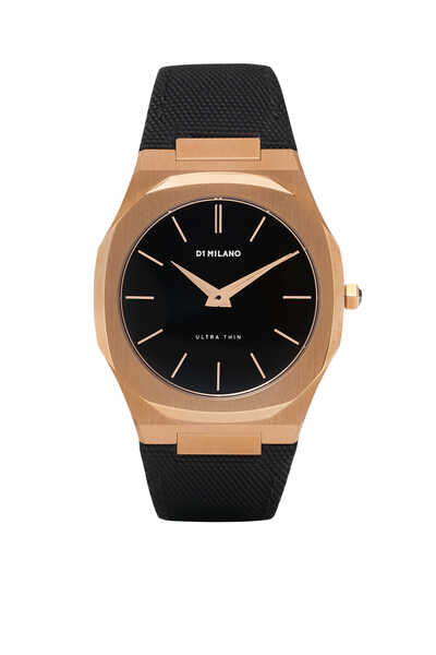 Ultra Thin Nylon 40mm Rose-Gold Steel Watch
