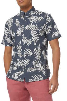 Leaf Print Cotton Shirt