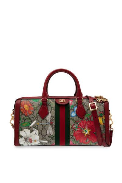 GG Flora Ophidia Medium Top Handle Bag
