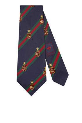 Web Crest Silk Tie