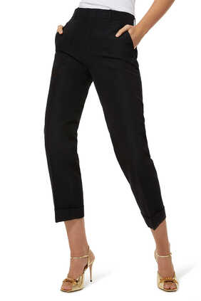 Faille Cropped Pants