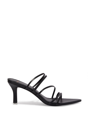 Gabbie Strappy Leather Mules