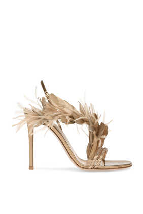 Anthea Feather Embellished Sandals