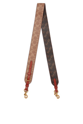 Strap in Signature Canvas with Horse & Carriage Print