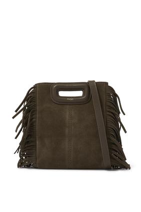 Mini M Tassel-Trimmed Suede Shoulder Bag