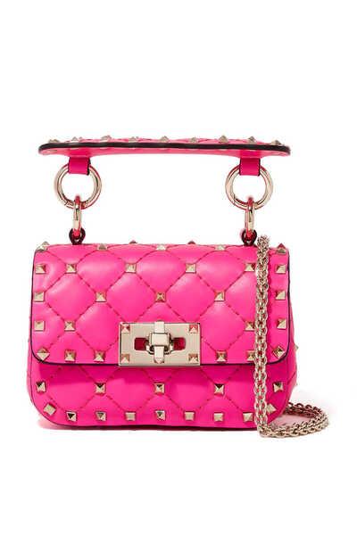 Valentino Garavani Micro Rockstud Spike Neon Leather Bag
