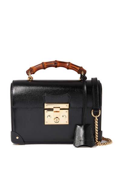 Leather Padlock Small Bamboo Shoulder Bag