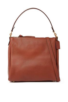 Shay Pebble Leather Shoulder Bag