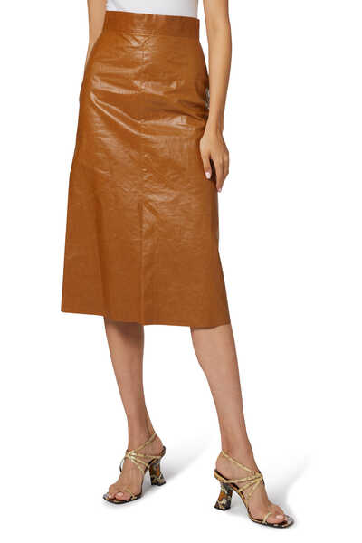 Domiae Faux Leather Skirt