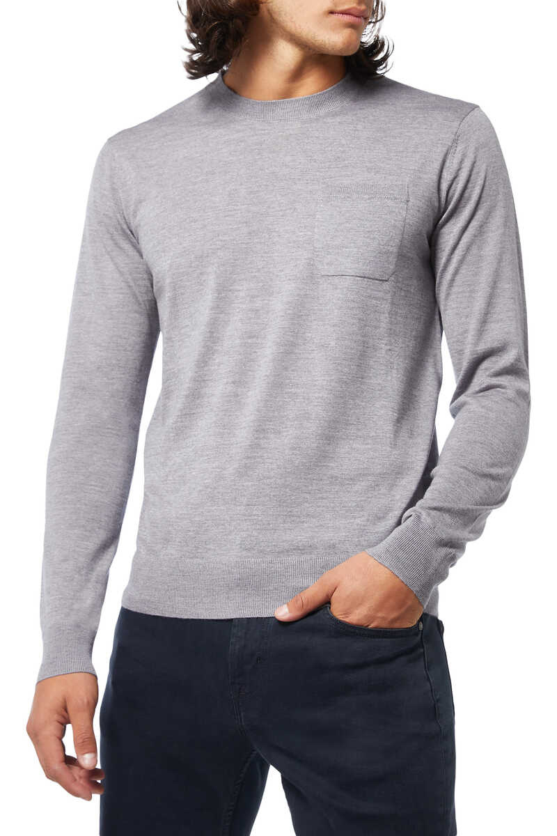 Solid Knit Pullover image number 1