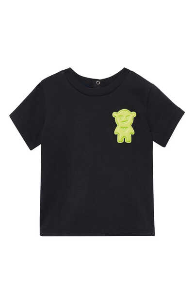 Manga Bear Appliqué T-Shirt