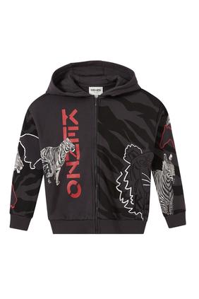 Logo Animal Hooded Jacket