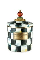Courtly Check Enamel Canister Small