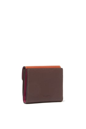 Tabby Colour-Block Leather Small Wallet